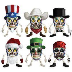 Sugar Skull Dress-Up Holiday Refrigerator Magnets