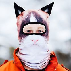 Hell-No Kitty Winter Snow Mask