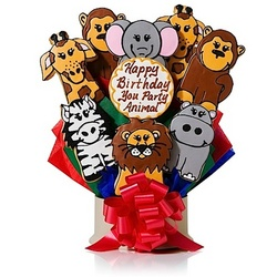 Happy birthday party animal cookie bouquet our cookie bouquets are