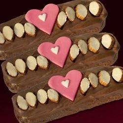 Valentine's Day Biscotti with Milk Chocolate Gift Box