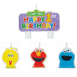 Sesame Street 1st Birthday Candle Package