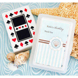 Beach Themed Playing Cards with Personalized Labels