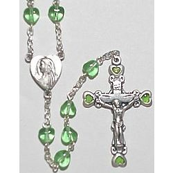 Heart-Shaped August Birthstone Rosary