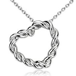Entwined Heart Pendant in Sterling Silver
