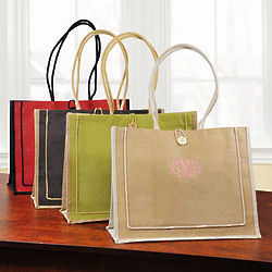 Personalized Jute Newport Tote