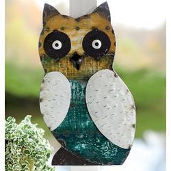 Reclaimed Metal Owl Wall Plaque