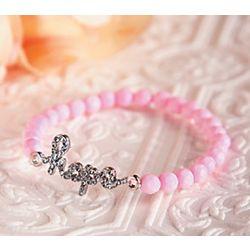 Hope Pink Beaded Bracelet
