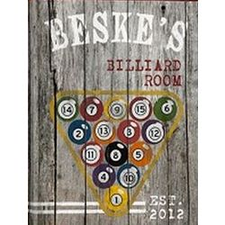 Personalized Billiards Man Cave Canvas
