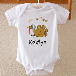 Thanksgiving Turkey Personalized Baby Bodysuit