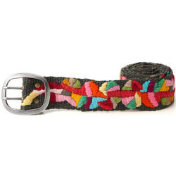 Embroidered Colorburst Belt