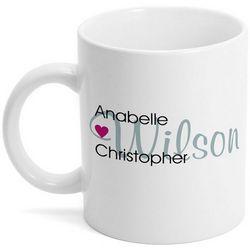 Couples Names Coffee Mug