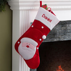 Santa's Helper Embroidered Jumbo Stocking