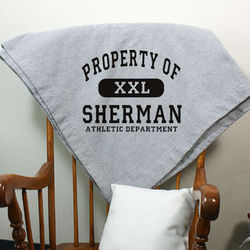 Personalized Property Of Athletic Fleece Blanket