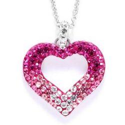 Swarovski Pink Ombre Heart Pendant Necklace