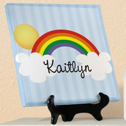 Baby's Personalized Over the Rainbow Canvas Art Print