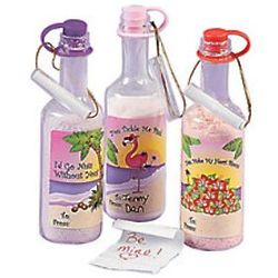 Valentine Message in A Bottle with Candy Powder