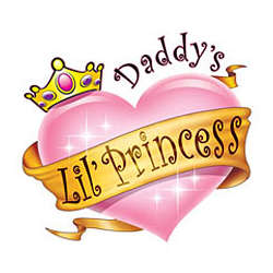 Daddy's Lil' Princess Adult T-Shirt