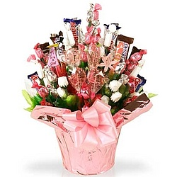 Tickled Pink New Baby Candy Bouquet