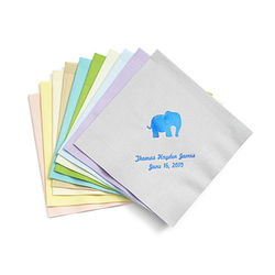 Personalized Baby Shower Party Beverage Napkins