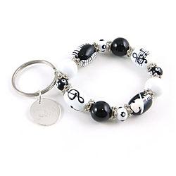 Personalized Music Class Charm Bracelet Keychain