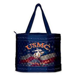 I Love My Marine USMC Women's Tote Bag