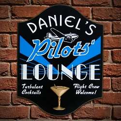 Pilots Lounge Personalized Sign