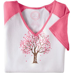 Women's Life is Good Heart Tree Loungewear