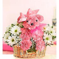 Princess Paws Pink Puppy-Shaped Floral Arrangement