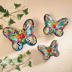 Set Of Handcrafted Ceramic Butterflies