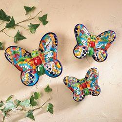 Set Of Handcrafted Ceramic Butterflies