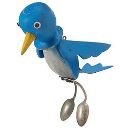 Blue Bird Garden Figurine