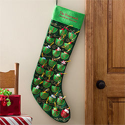 Personalized Oversized Christmas Countdown Stocking