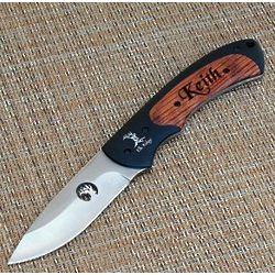Elk Ridge Fixed Blade Knife with Rosewood Inlay Handle