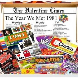 Remember the Year We Met 1981 Gift Box