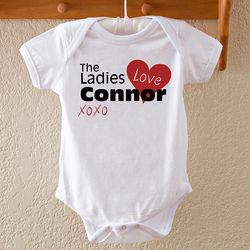 Ladies Love Me Personalized Baby Bodysuit