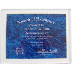 Personalized Award of Excellence Plaque