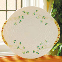 Belleek Shamrock Bread Plate