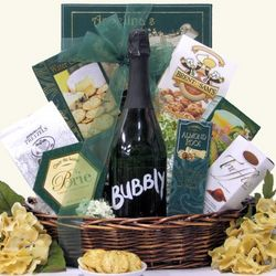 Make It Bubbly Sparkling Wine Gift Basket