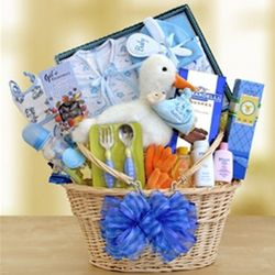 All Boy Baby Wagon Gift Basket