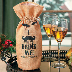 Mustache Wine Bottle Tote