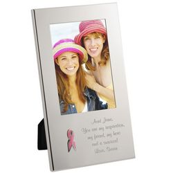 Personalized Pink Ribbon Breast Cancer Awareness Frame