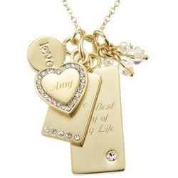 Make-A-Wish Love Gold Necklace