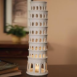 Leaning Tower of Pisa Tea Light Candleholder