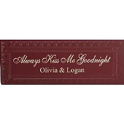 Always Kiss Goodnight Personalized Pressed Tin Wall Decor