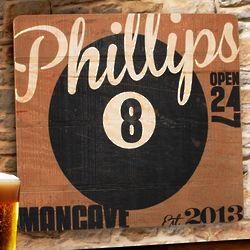 8 Ball Tavern Wooden Bar Sign