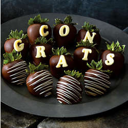 Congrats Hand Dipped Dark Chocolate Covered Strawberries