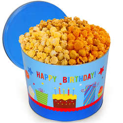 Happy Birthday 2 Gallon Traditional Mix Popcorn Gift Tin