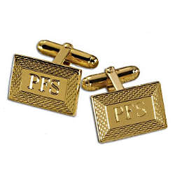 Etched Frame Rectangle Engraveable Cufflinks