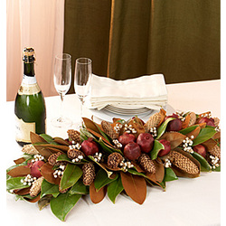 "24"" Preserved Magnolia Grove Table Runner"