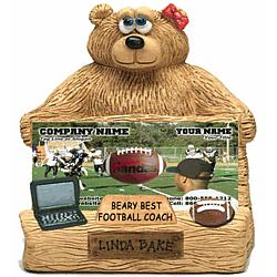 Personalized Business Card Holder for Football Coach